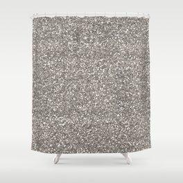 Silver Glitter I Shower Curtain