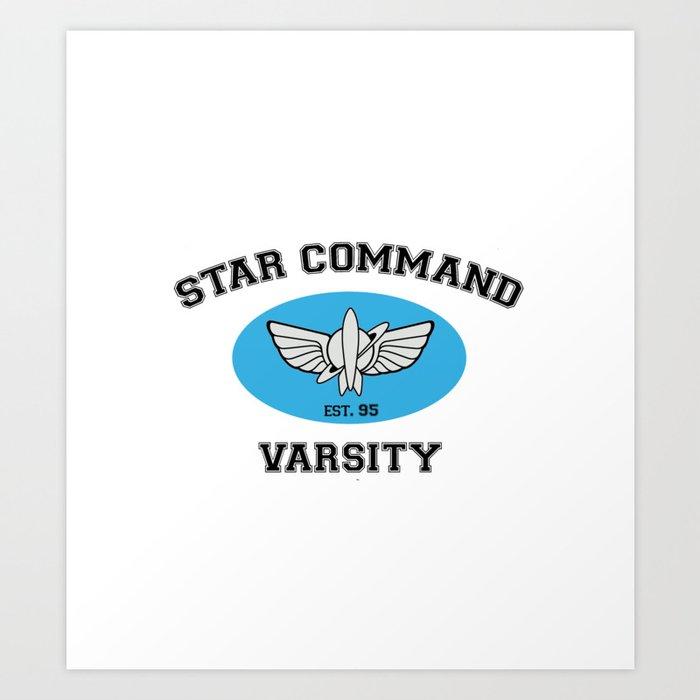 Star Command Varsity Toy Story Art Print By Thaddeusthatch Society6