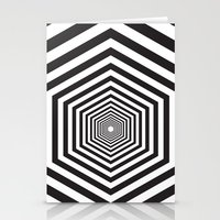 hexagon Stationery Cards featuring Hexagon by Vadeco