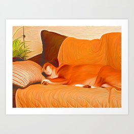 Lucy Sleeping West Art Print