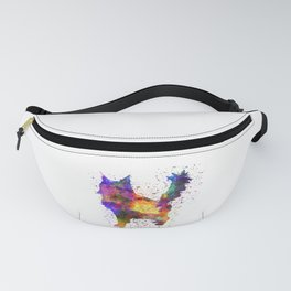 Maine coon  in watercolor Fanny Pack