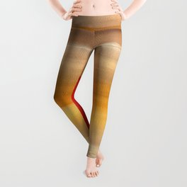 Acrylic Abstract Painting Sunny Day Leggings
