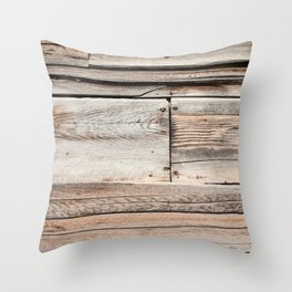Old Wood Wall Throw Pillow
