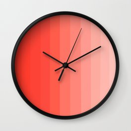 Shades of Living Coral From Hot Tomato Coral to Pale Blush Wall Clock