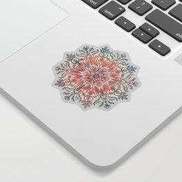 Autumn Spice Mandala in Coral, Cream and Rose Sticker