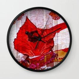 Little Red Bird II Wall Clock