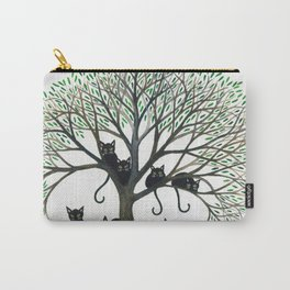 Borders Whimsical Cats in Tree Carry-All Pouch