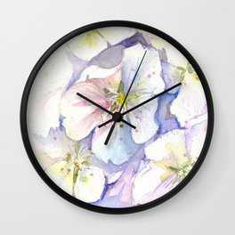 Cherry Blossoms Flowers Spring Floral Wall Clock