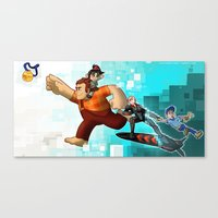 wreck it ralph Canvas Prints featuring Wreck it Ralph by twistedCaliber