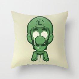 Mirrored Luigi Throw Pillow