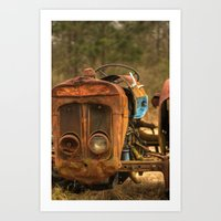 This Old Tractor Art Print