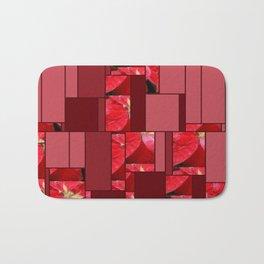 Mottled Red Poinsettia 2 Art Rectangles 8 Bath Mat