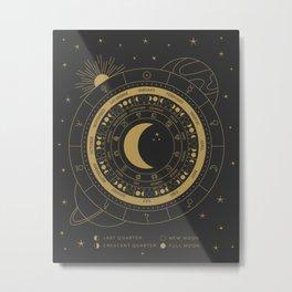 Lunar Calendar 2021 Black Metal Print
