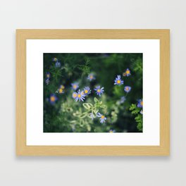 Blue and Yellow Flowers Framed Art Print