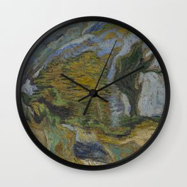 Ravine with a Small Stream Wall Clock