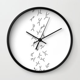 Falling People Wall Clock