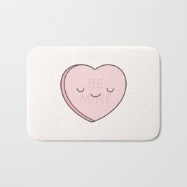 Pink Sweet Candy Heart Bath Mat