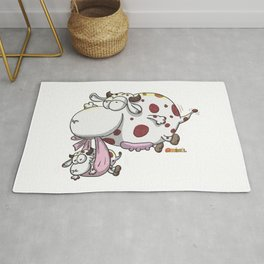 Flying cow Rug
