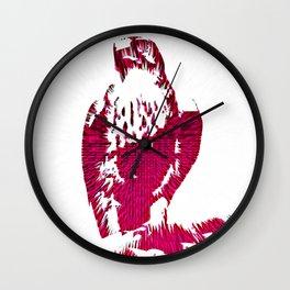 Extruded Falcon Wall Clock