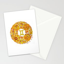 Gemini in Petrykivka style (with signature) Stationery Cards