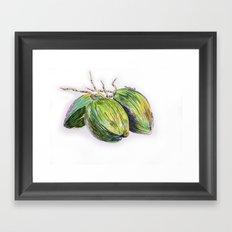Island life coconut Framed Art Print