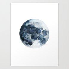 Blueberry Moon Art Print