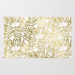 Gold Leaves 1 Rug