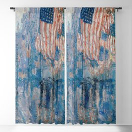 Childe Hassam's The Avenue in the Rain Blackout Curtain