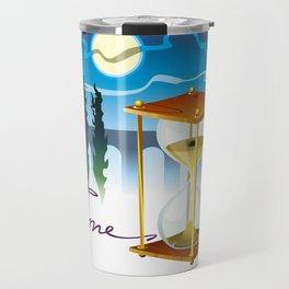 Sand-glass with southern landscape Travel Mug