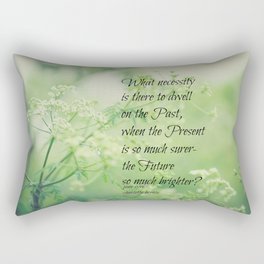 Present and Future Jane Eyre Quote Rectangular Pillow