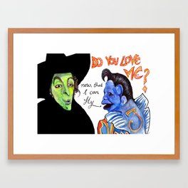 Ding Dong the Witch is dead. Framed Art Print