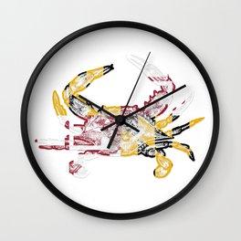 Maryland Crab Wall Clock