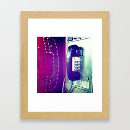 Another Telephone Lover Framed Art Print