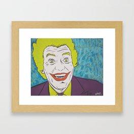 Vintage Joker Spray Painting Framed Art Print