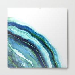 River Agate Moon  Metal Print