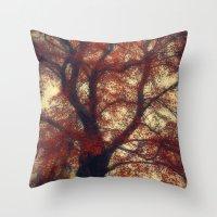 copper Throw Pillows featuring Copper Beech by Dirk Wuestenhagen Imagery