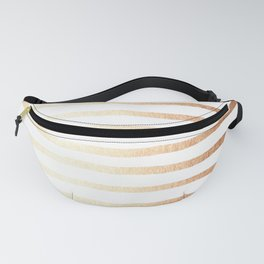 Simply Drawn Stripes Deep Bronze Amber Fanny Pack