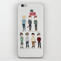 youtube iPhone & iPod Skins featuring Youtube Boys  by Natasha Ramon