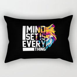 Mindset is Everything Motivational Quote Business Rectangular Pillow