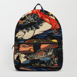 The Tattooed Samurai Traditional Japanese Character Backpack