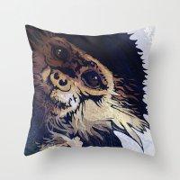 monkey Throw Pillows featuring MONKEY by SAMHAIN