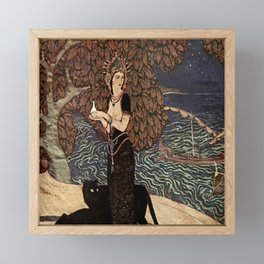"""Circe the Enchantress"" by Edmund Dulac Framed Mini Art Print"