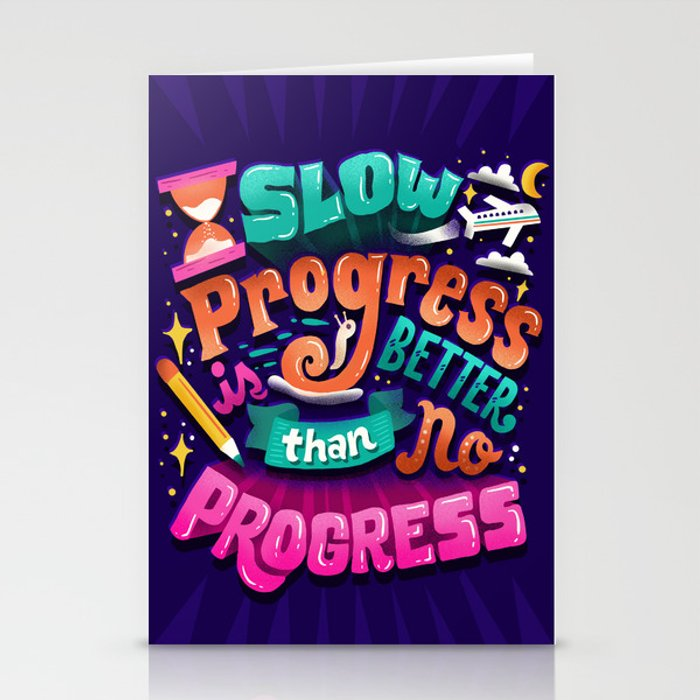 Progress Stationery Cards