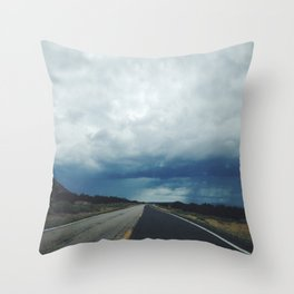 New Mexico back road Throw Pillow