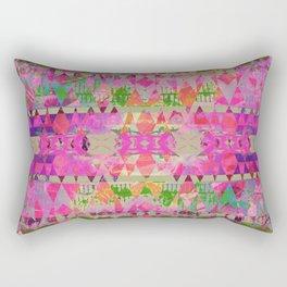 Pink Aztec Grunge Rectangular Pillow