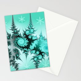 Winter magic in soft blue Stationery Cards