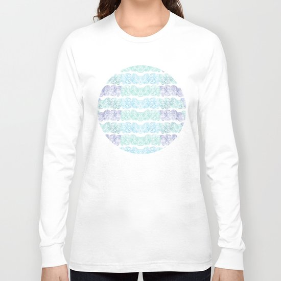 Sea Wave Clouds Long Sleeve T-shirt