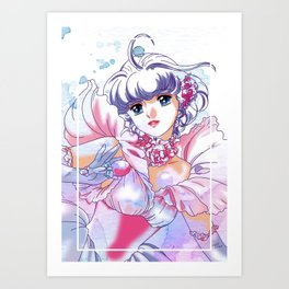 Magical Angel Creamy Mami Watercolor Art Print