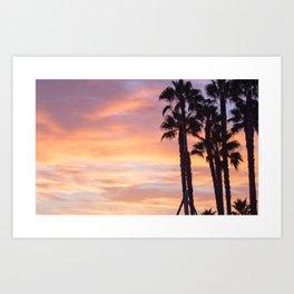 Cali Sunset Art Print