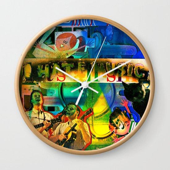 """I Hate Music"" by Cap Blackard Wall Clock"